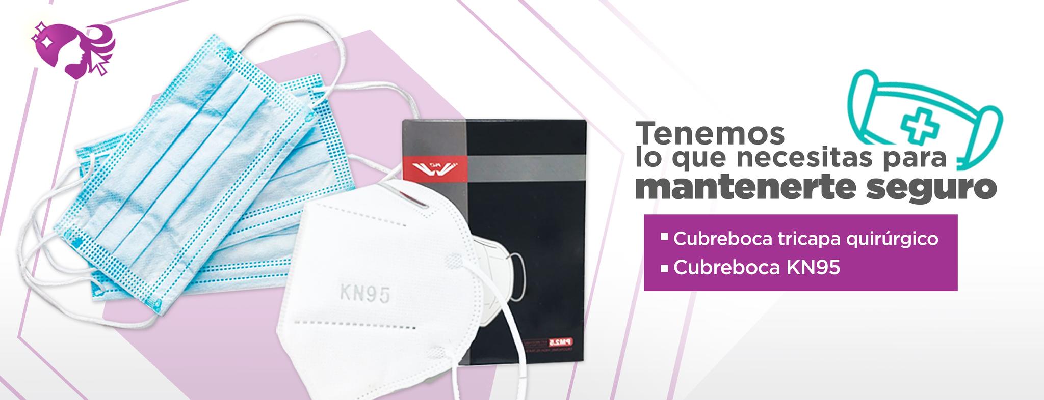 Kisha Beauty Supply cubrebocas triple capa kn95 desktop