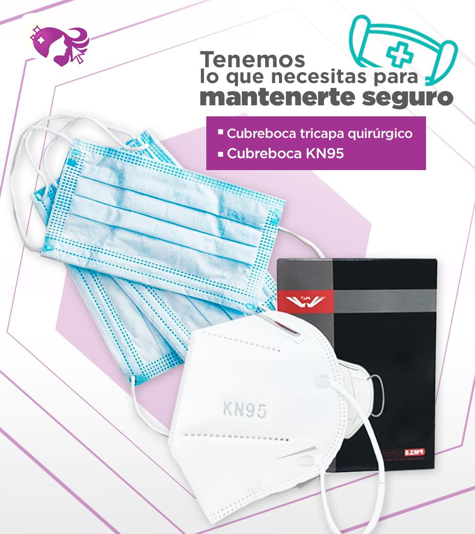 Kisha Beauty Supply cubrebocas triple capa kn95 mobile